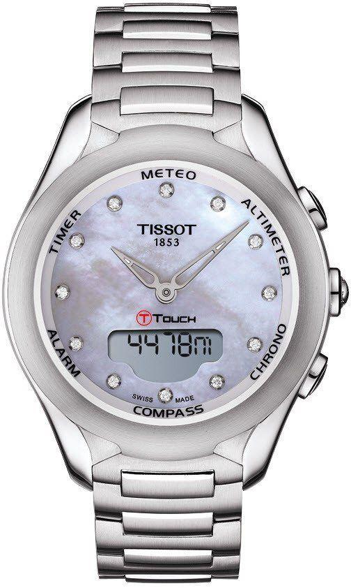 Tissot Watch T Touch Lady Solar Alarm Yes Bezel Fixed Bracelet Strap Steel Case Material Steel Cas Tissot T Touch Tissot Watches Stainless Steel Bracelet