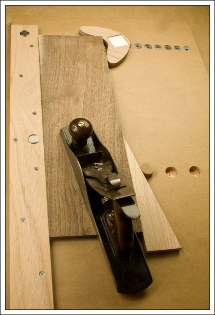 Hand Planing Jig Boomerang Shaped Planing Stop Is A Great