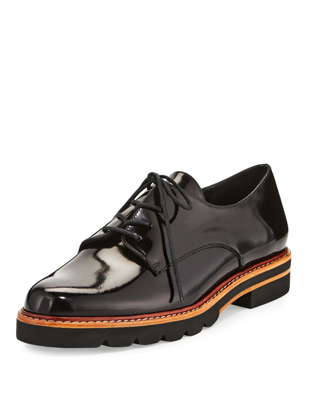 Metro Patent Leather Oxford, Jet