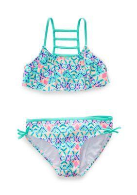 615870451c8 J. Khaki Mint 2-Piece Paisley Henna Bikini Girls 7-16