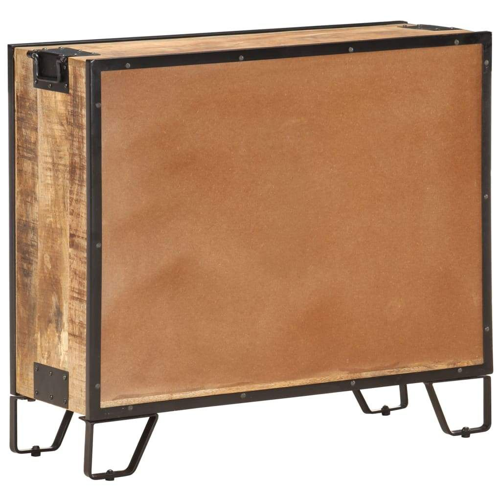 ZUN Sideboard 31.5″x12.2″x28″ Solid Rough Mango Wood 285893