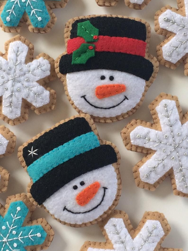 Snowman Pattern Pdf Felt Christmas Ornaments Garland Instant Etsy Diy Felt Christmas Ornaments Felt Christmas Ornaments Felt Crafts Christmas