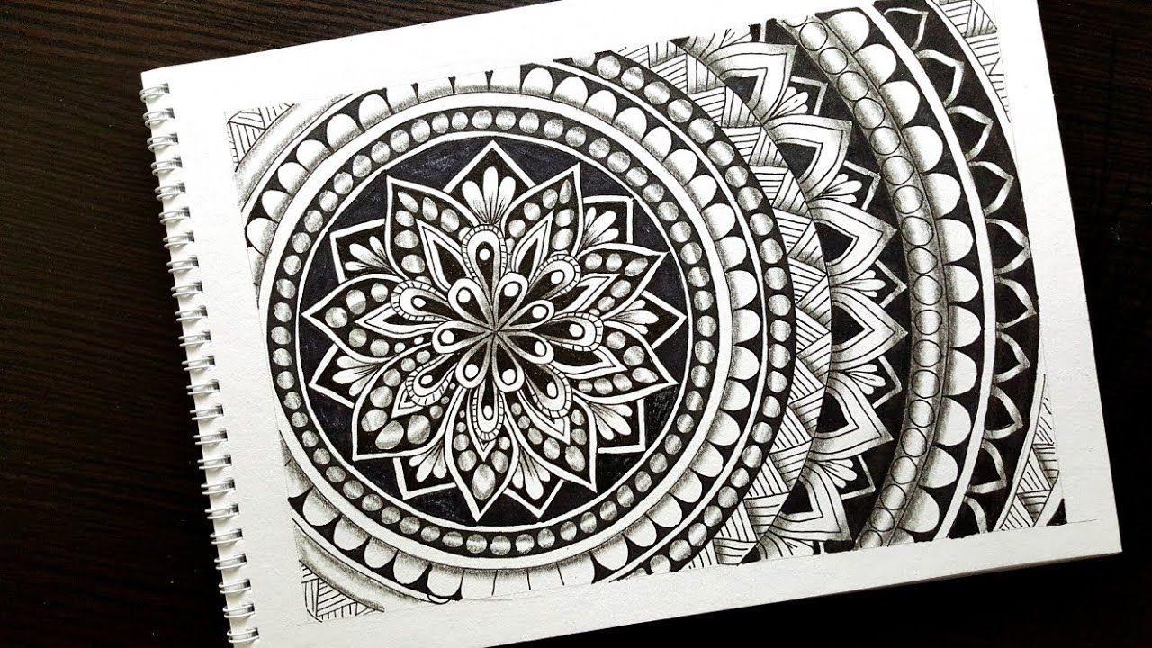 How To Draw Mandala Art For Beginners Quick And Easy To Draw Mandala Mandala Art Mandala Design Art Easy Drawings