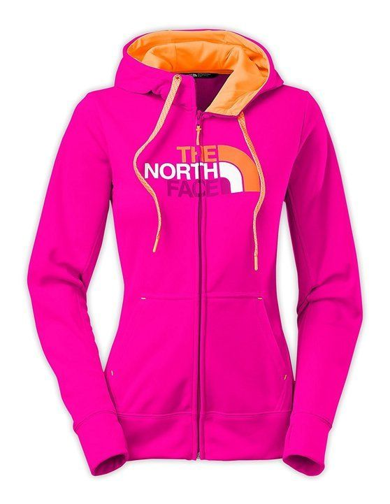$55.99 - The North Face Women's Fave Half Dome Pullover Hoodie Luminous Pink/Impact Orange Multi #thenorthface
