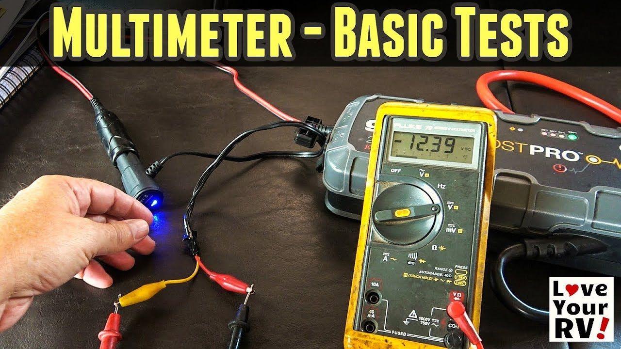 Basic uses of a multimeter for rvers multimeter basic