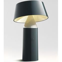 Photo of Led table lamp Bicoca Marset gray, designer Christophe Mathieu, 22.5 cm MarsetMarset