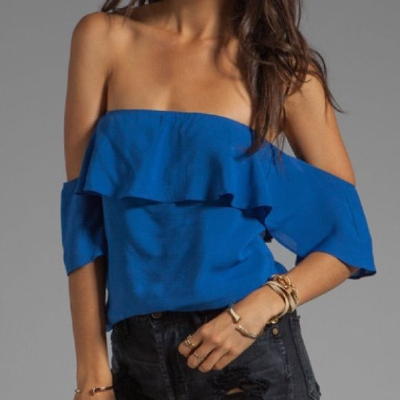 Boulee Emily Top in Sedona Blue Been worn a few times. In great condition. Literally good as new! Boulee Tops Blouses