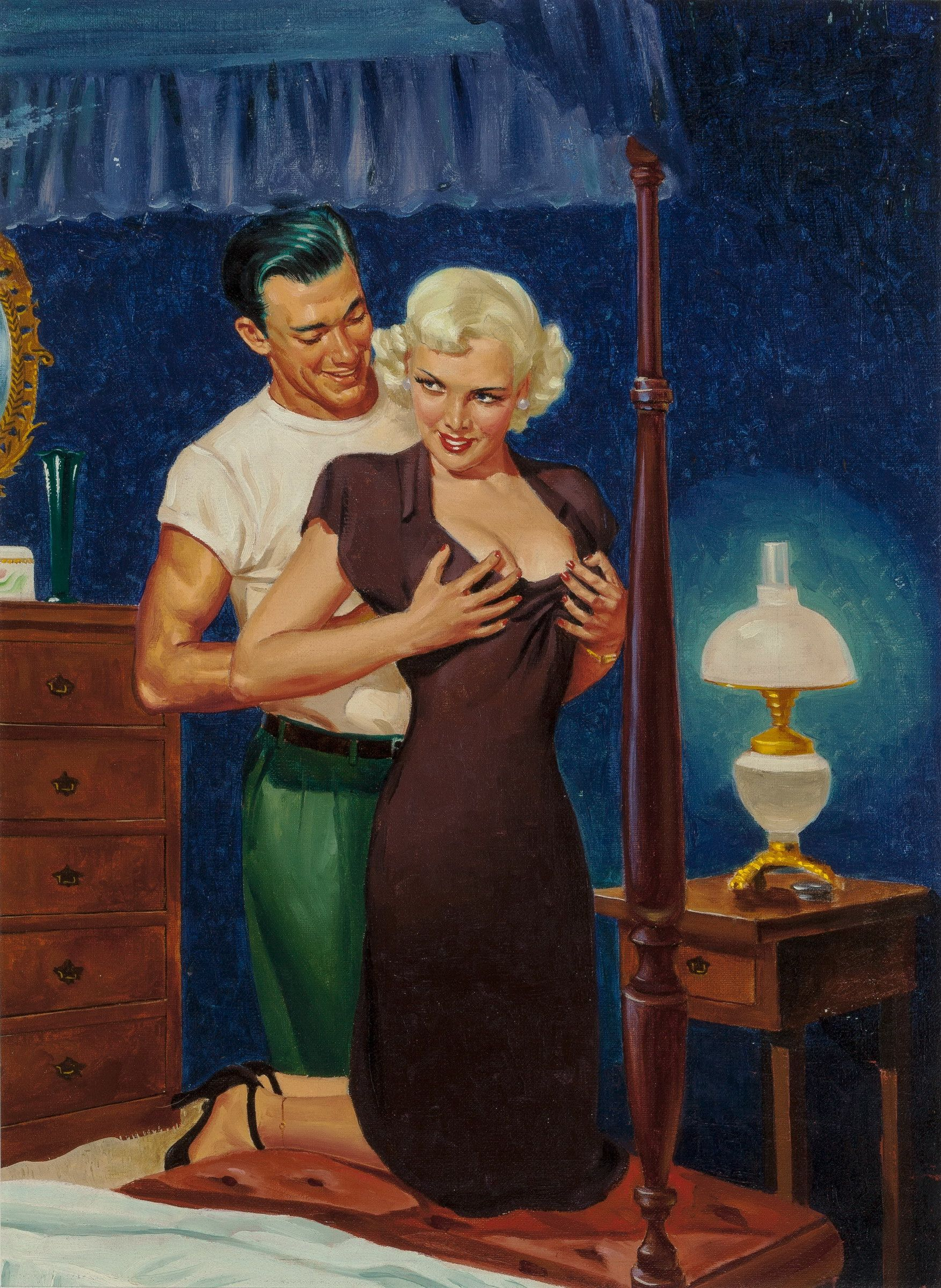 Erotic painting george gross
