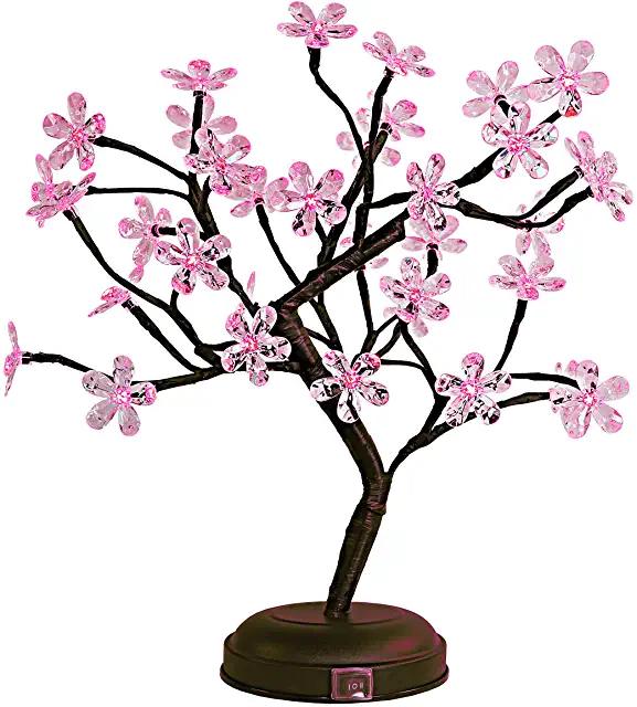 Amazon Com Cherry Blossom Tree Prime Eligible Flower Lights Bonsai Tree Cherry Blossom Tree