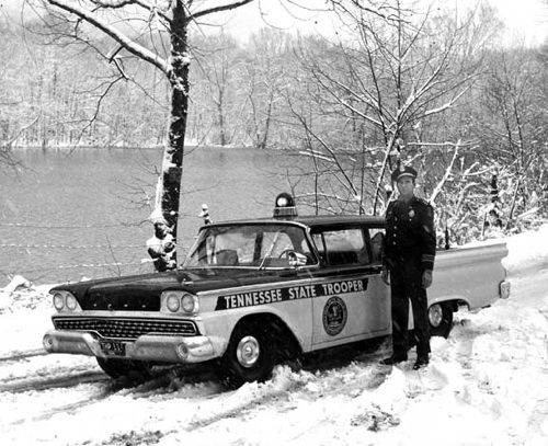 Black And White Tennessee State Trooper Police Cars Old Police Cars Us Police Car