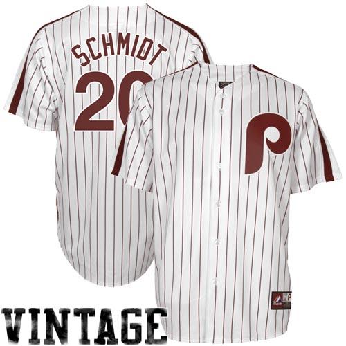 buy online 99c7c 6f51b Mike Schmidt Philadelphia Phillies #20 Majestic Cooperstown ...