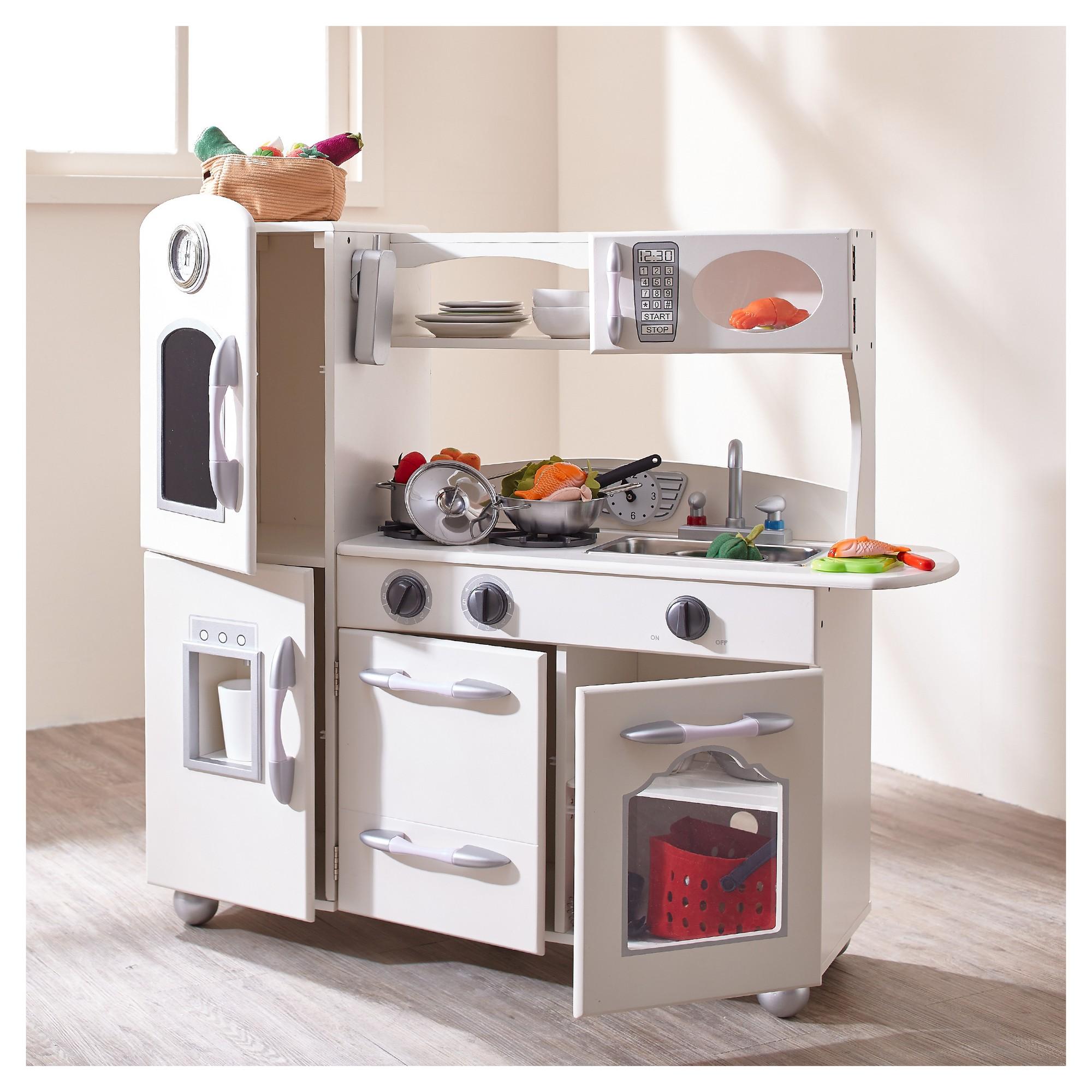 teamson kids retro wooden play kitchen white products cuarto rh pinterest cl