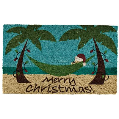 Attractive Tropical Christmas Door Mat