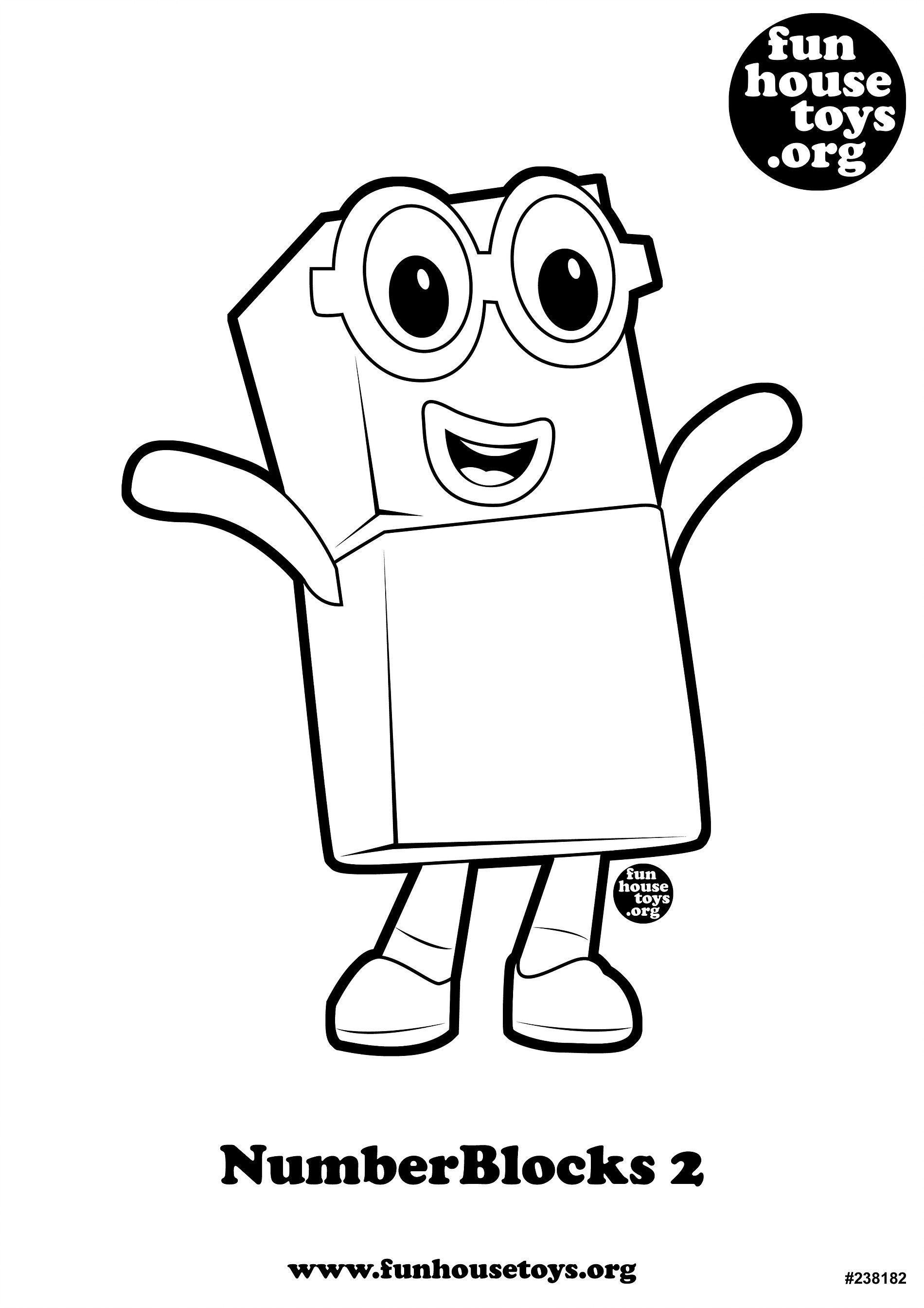 Numberblocks 2 Printable Coloring Book Kids Printable Coloring Pages Coloring Pages