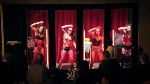 In The Red Light District Of Amsterdam There Are Hookers