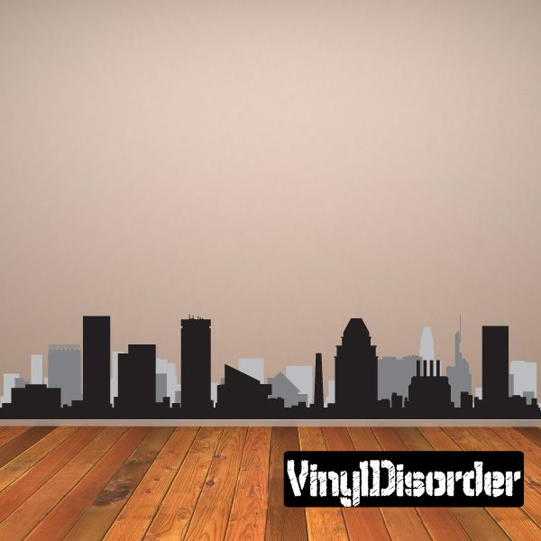 Baltimore Maryland Skyline Vinyl Wall Decal or Car Sticker SS078