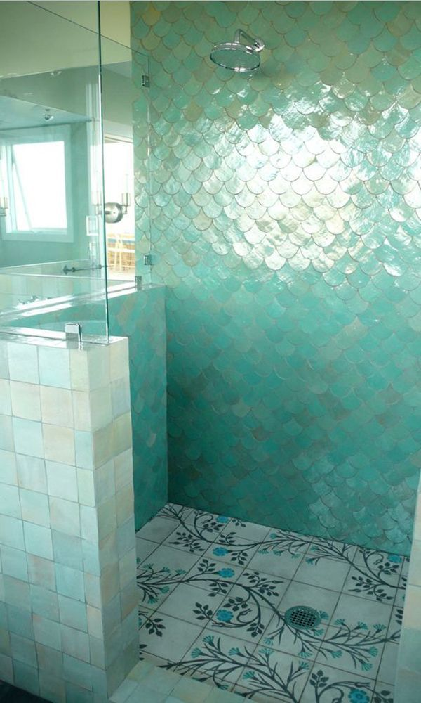 Fish Scale Tiles Are A Great Way To Update Your Kitchen Or Bathroom.  Replace Your Subway Tile With Fish Scale Tile To Stay On Trend. For More  Design Ideas ... Good Ideas