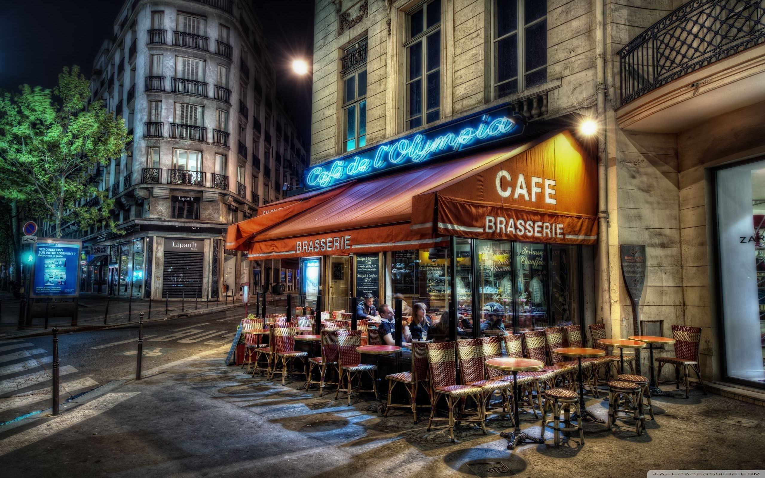 Paris, sidewalk cafe