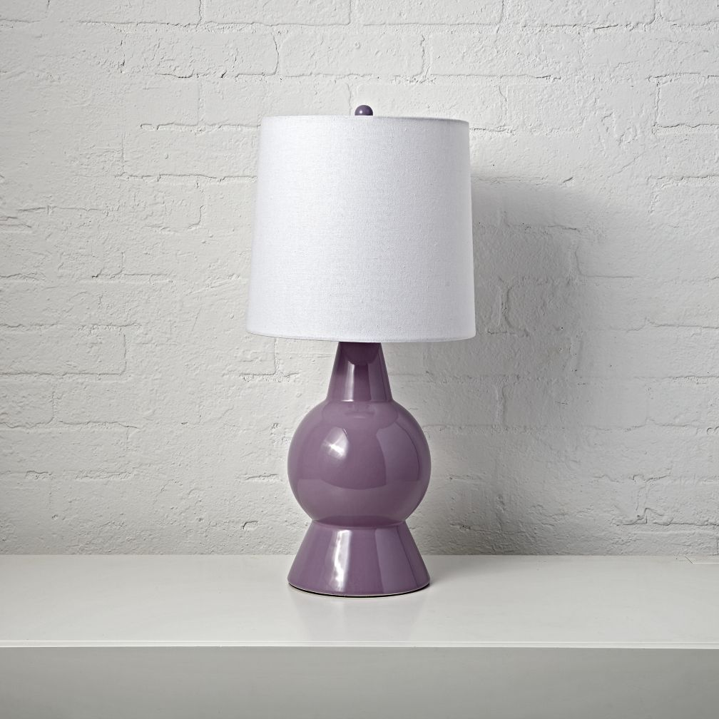 Beacon purple ceramic table lamp purple table lamps ceramic shop beacon purple table lamp when things are looking dark our beacon table lamp geotapseo Image collections