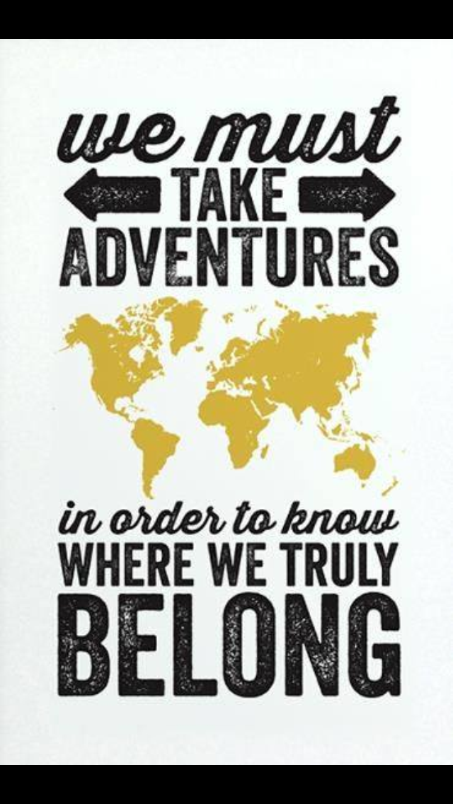 Always time for a new adventure.