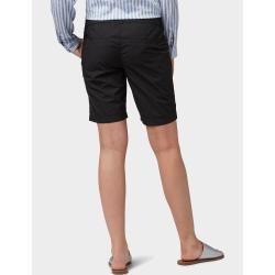 Photo of Tom Tailor Damen Chino Slim Bermuda Shorts, schwarz, unifarben, Gr.40 Tom TailorTom Tailor