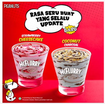 McD, Snoopy Dessert McD, McFlurry Strawberry Cheesecake