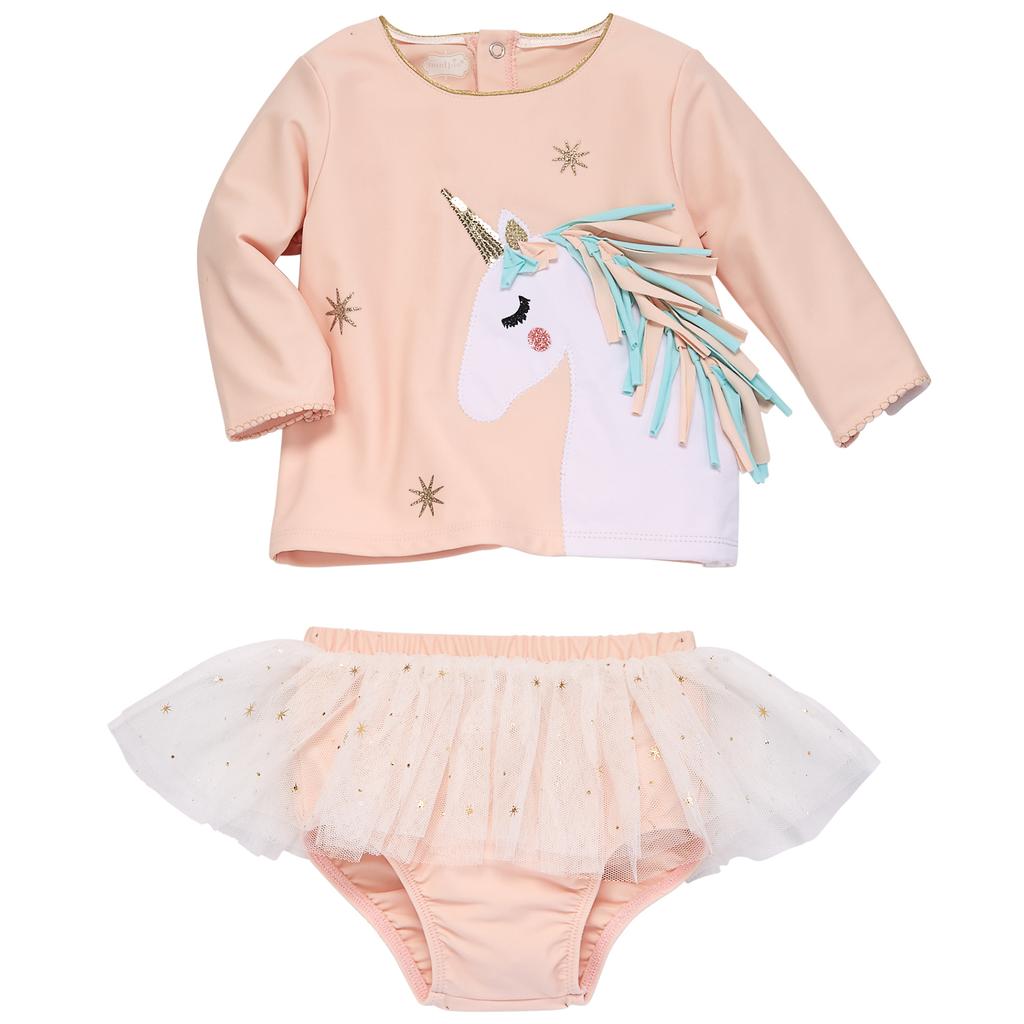 2b7022d5aac17 Unicorn rash guard set in 2019 | Products | Baby girl swimsuit ...