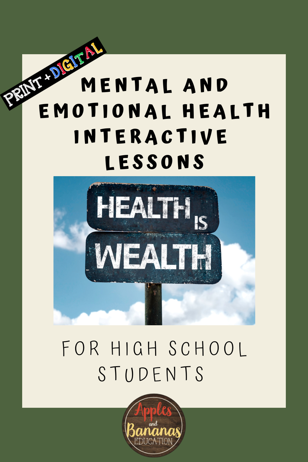 Mental and Emotional Health - Part 2 - Interactive Note ...
