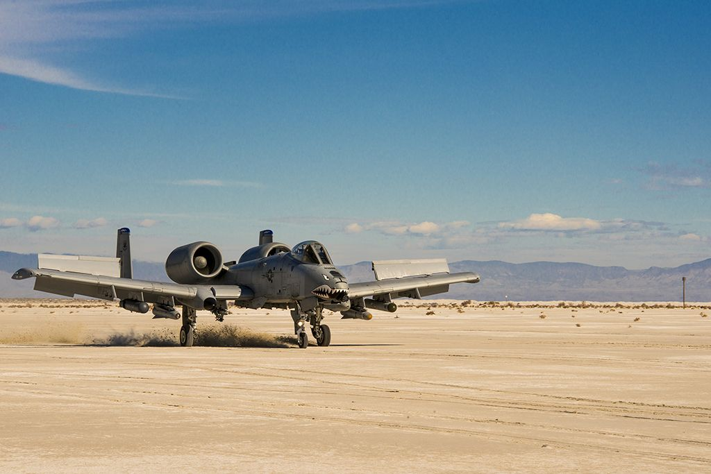 Sand land for an A-10 Warthog