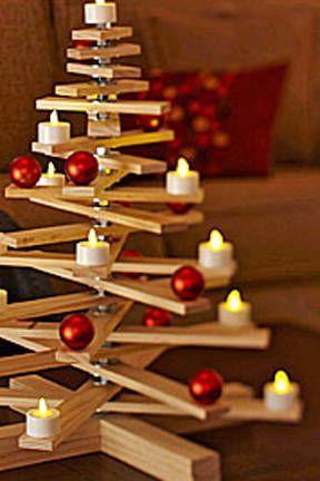 Albero Di Natale Legno Fai Da Te.Alberi Di Natale Fai Da Te In Legno Idee Per Addobbare E Creare