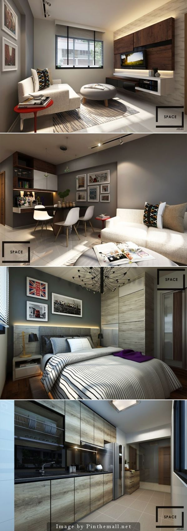 Singapore Hdb Living Room Design: HDB 2 Room By Space Atelier Pte Ltd