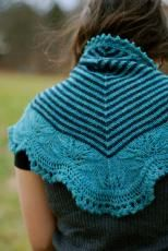 andrea's shawl. through the loops