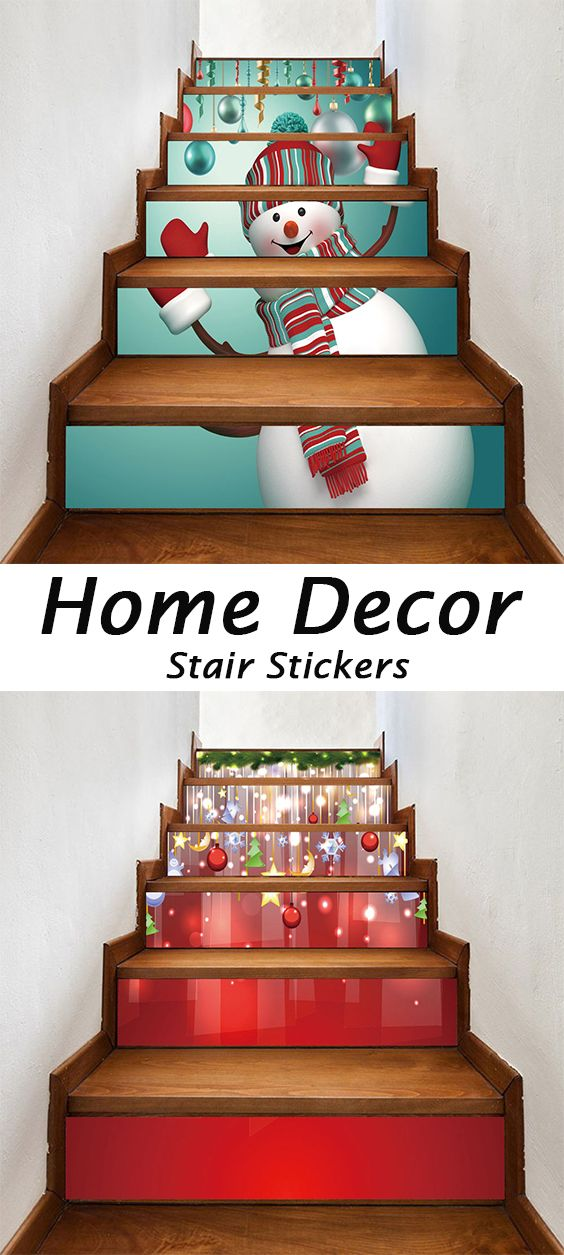 50 Off Christmas Stair Stickers Christmas Stairs Stair