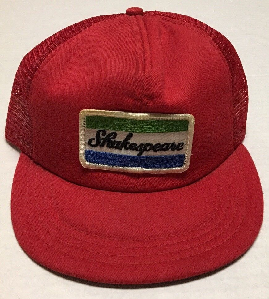 8583e20a5c7ce Vtg Shakespeare Trucker Hat Fishing Made in the USA L XL South Carolina SC  Cap  Columbia  Trucker