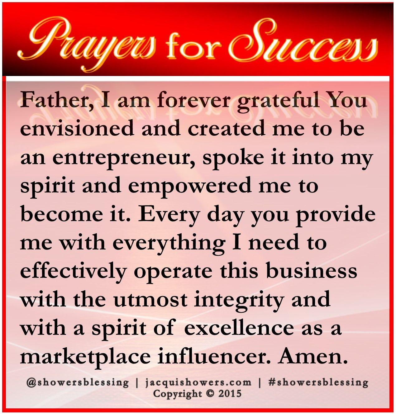 Prayer For Success Nov 18 With Images Prayer For Success