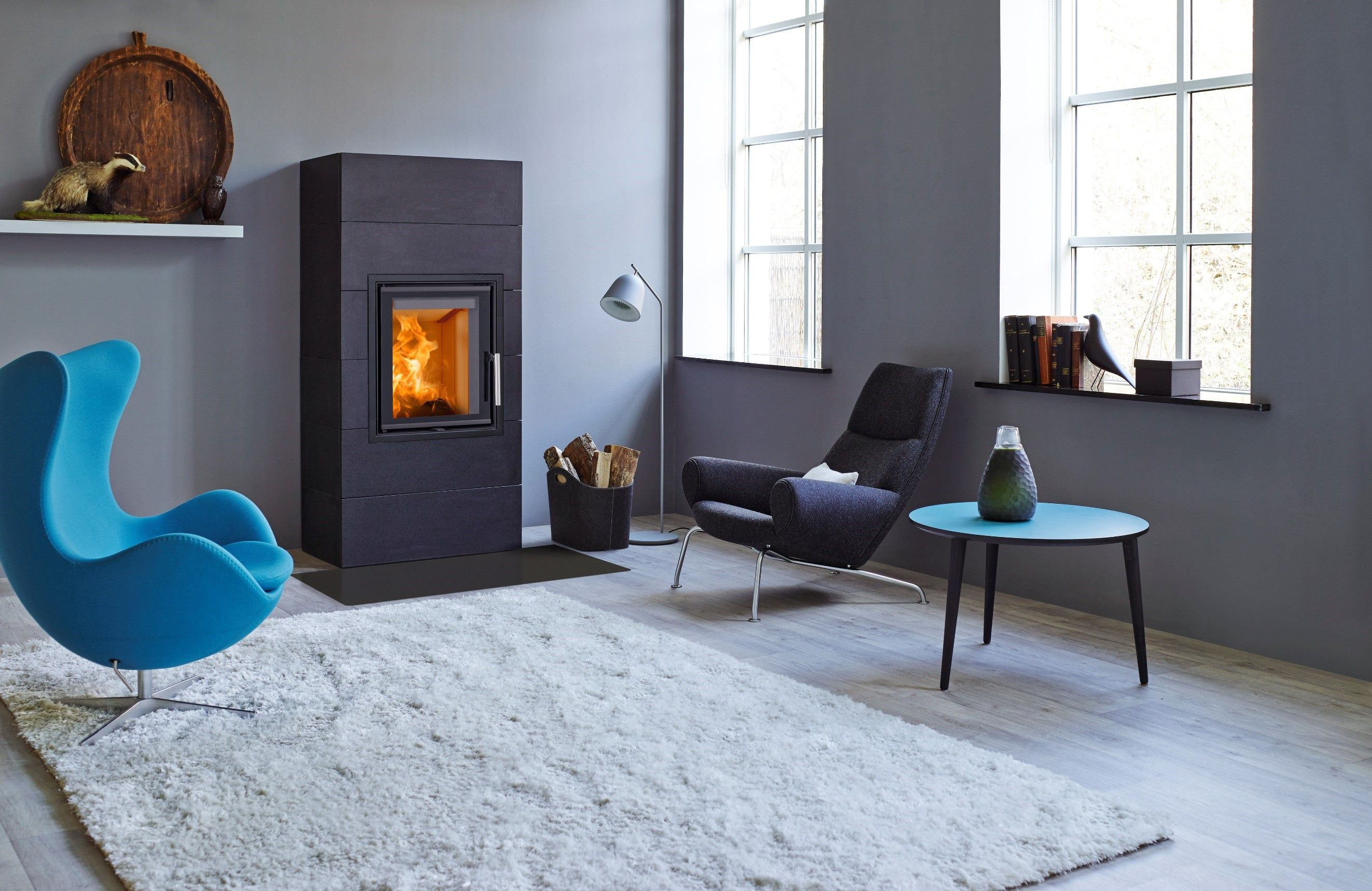 Erhardt Cheminees Scan 5001 Is A Compact Vertical Stove Which Can Be Installed Into