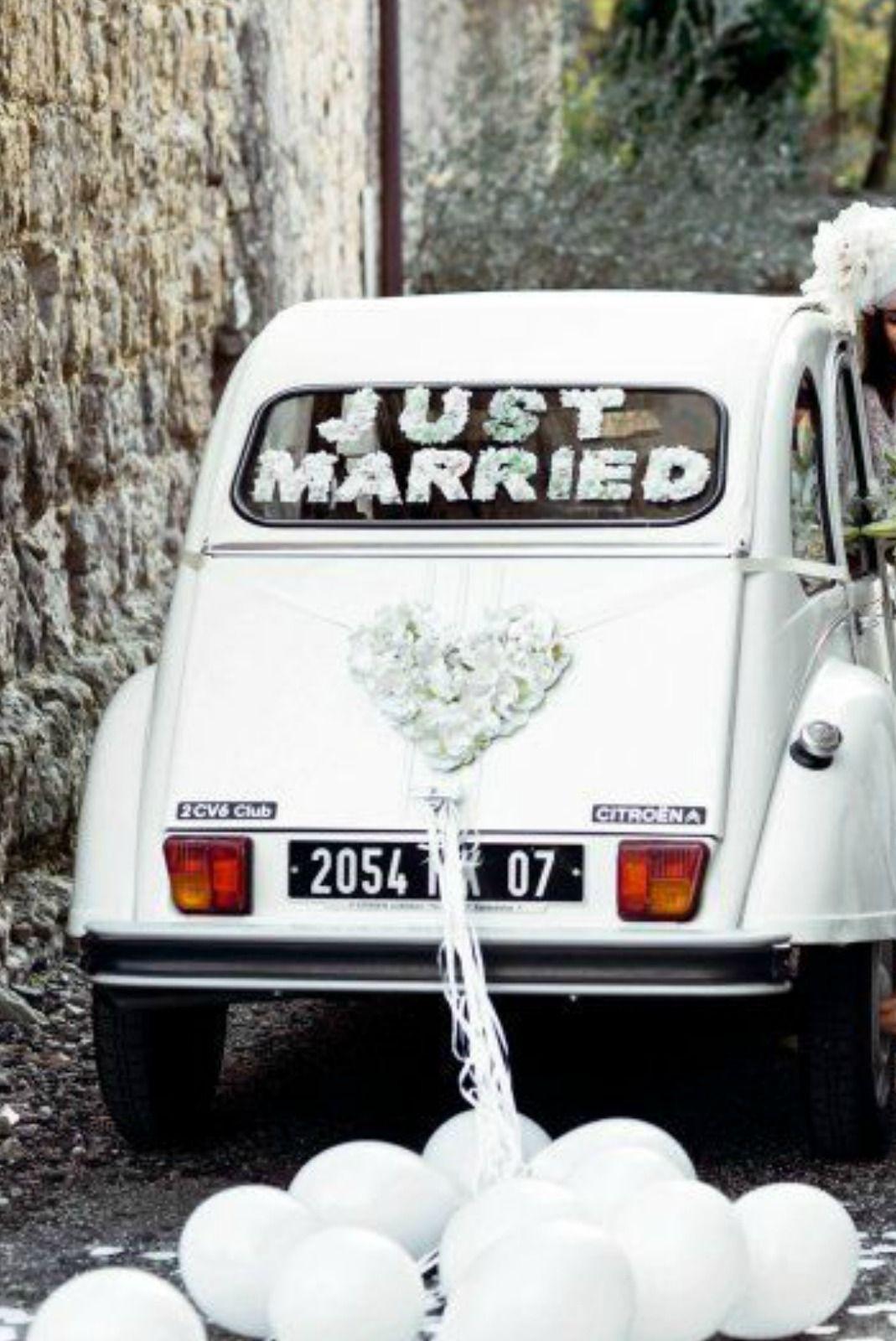 Wedding car decoration ideas  Pin by lucia on decoracion  Pinterest  Wedding cars Wedding and