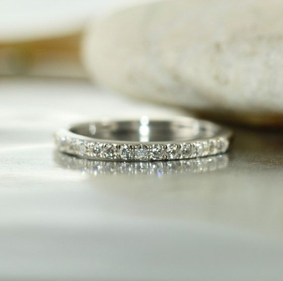 Balance 1 3 Carat Vs Diamond 14k White Gold Half Eternity Wedding Band Vs Diamond Diamond Half Eternity Band Half Eternity Wedding Band