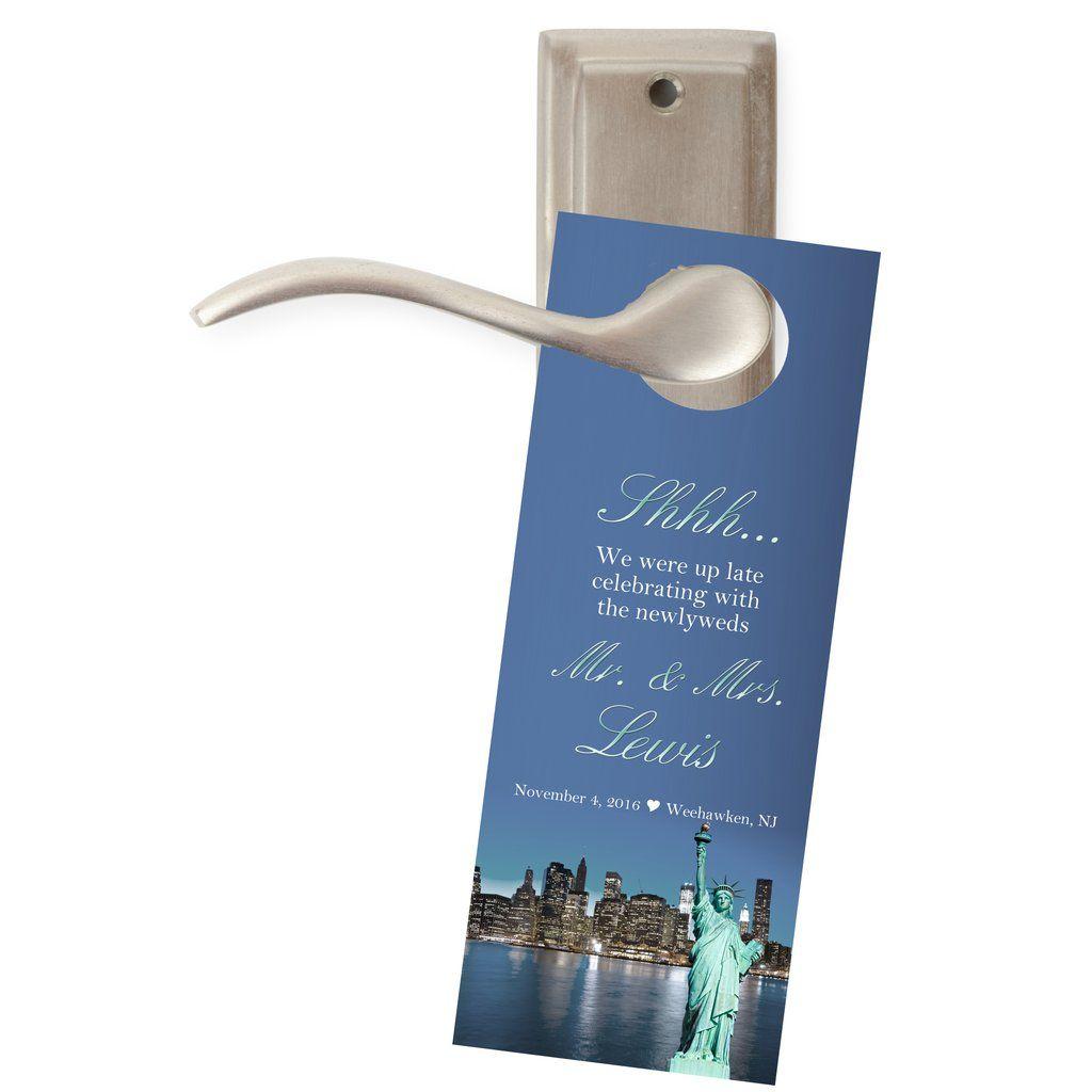 Party City Door Hangers: (sku511) New York City Wedding