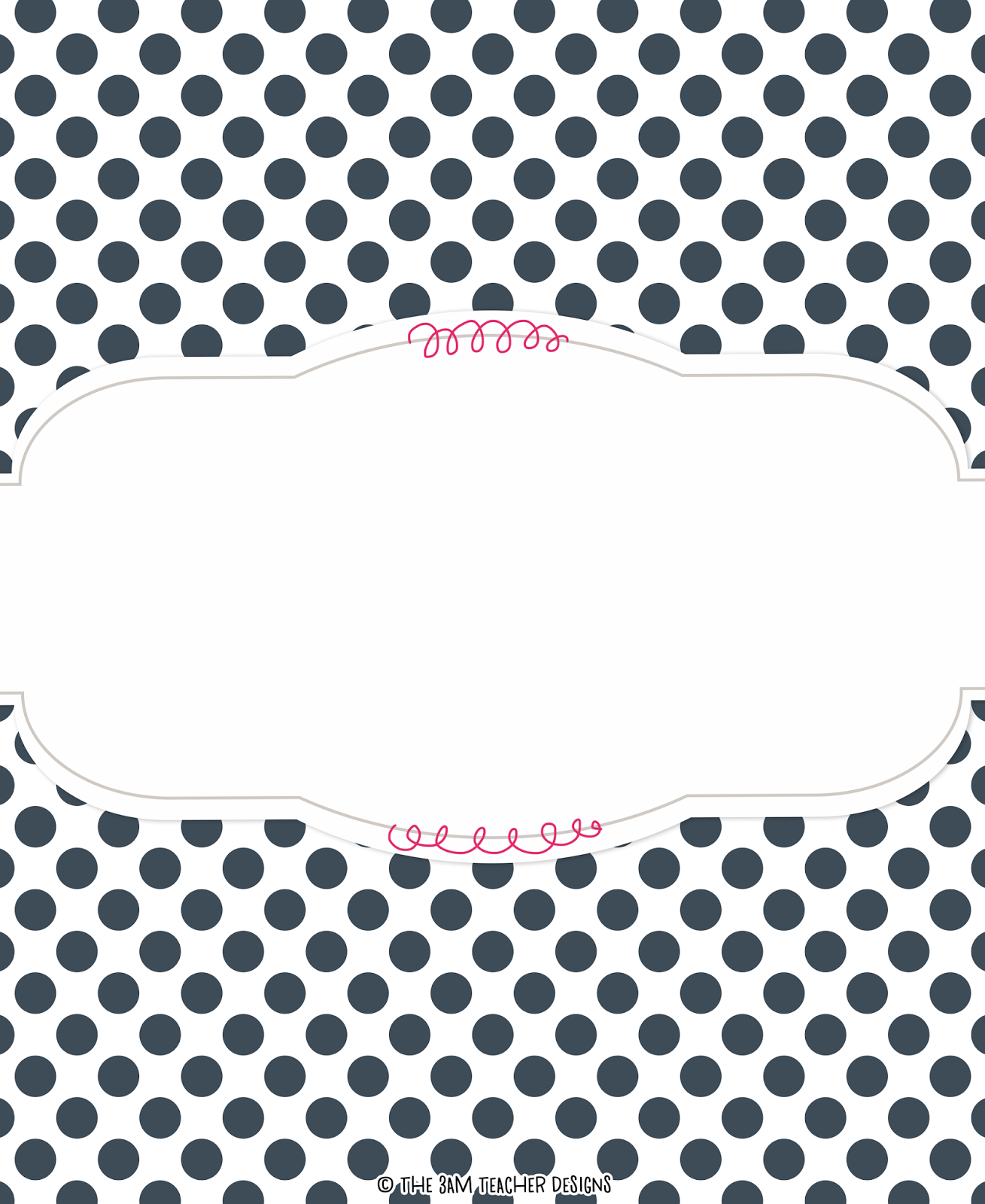 FREE Polka-Dot Binder Cover Graphic By The 3AM Teacher