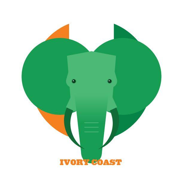 """Fußball WM2014 - """"Elfenbeinküste"""" in Flatdesign. Illustration von   FIFA Worldcup 2014 - """"Ivory Coast"""" in Flatdesign. Illustrated by  splinter.co.uk  #fifa2014 #fussball #wm2014 #ivorycoast #FLATDESIGN"""