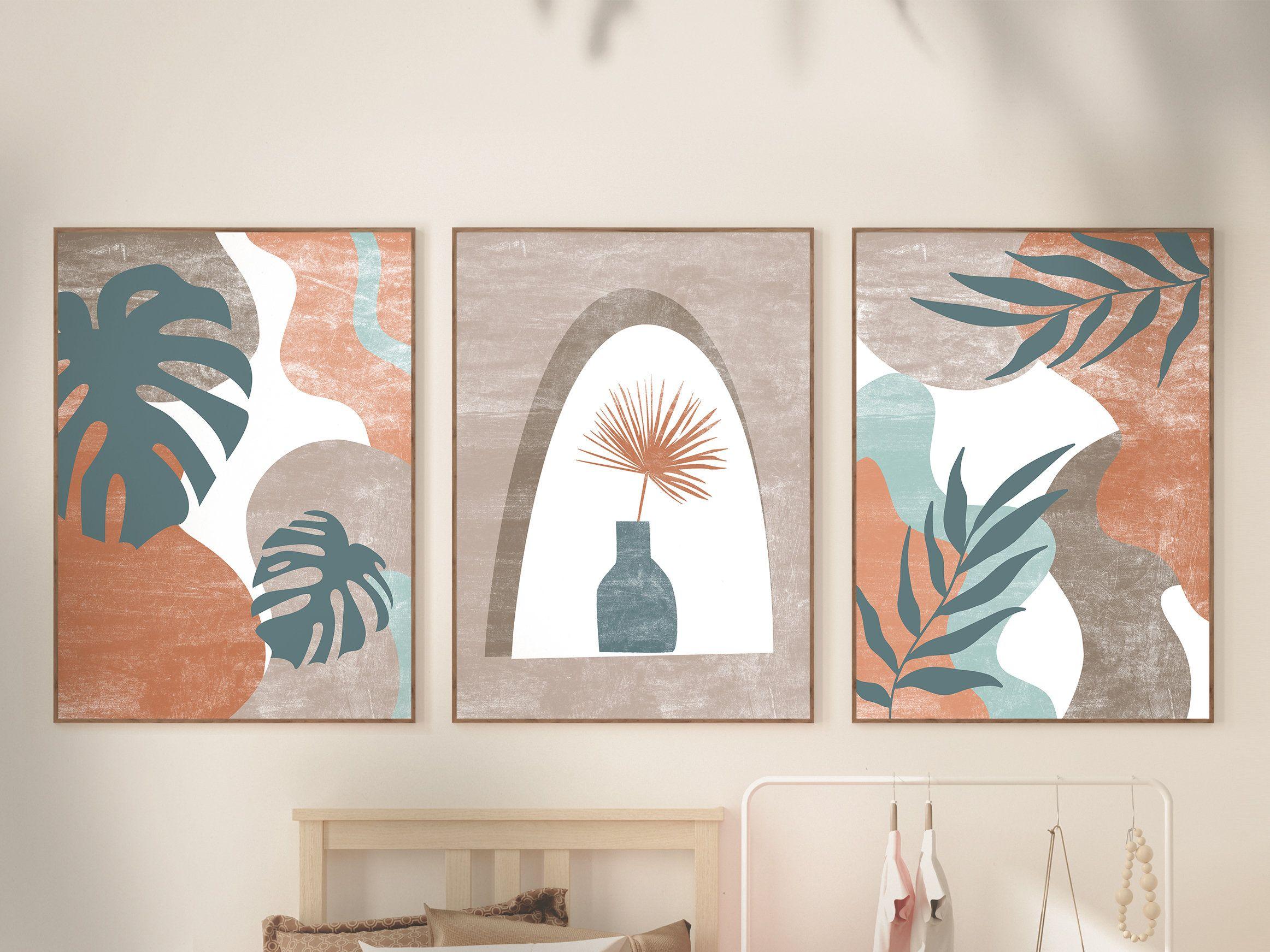 Abstract Botanical Art Set of 20 Prints, Boho Gallery Wall art, Mid ...