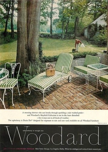 1962 Woodard Mayfield Ad Vintage Wrought Iron Patio