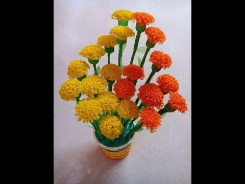 Empty Plastic Bottle Vase Making Craft Water Bottle Recycle Flower