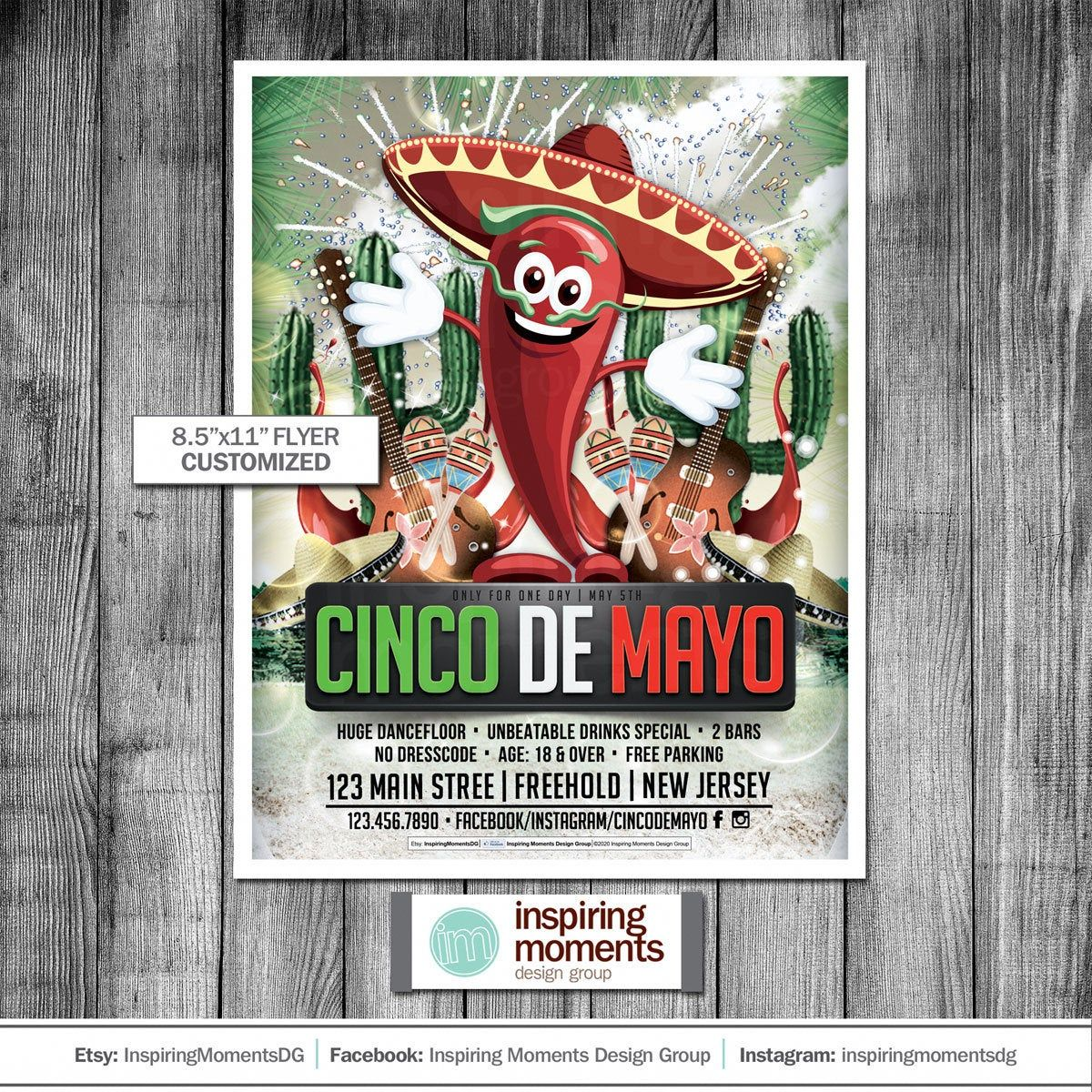 Cinco De Mayo Event Flyer Printable