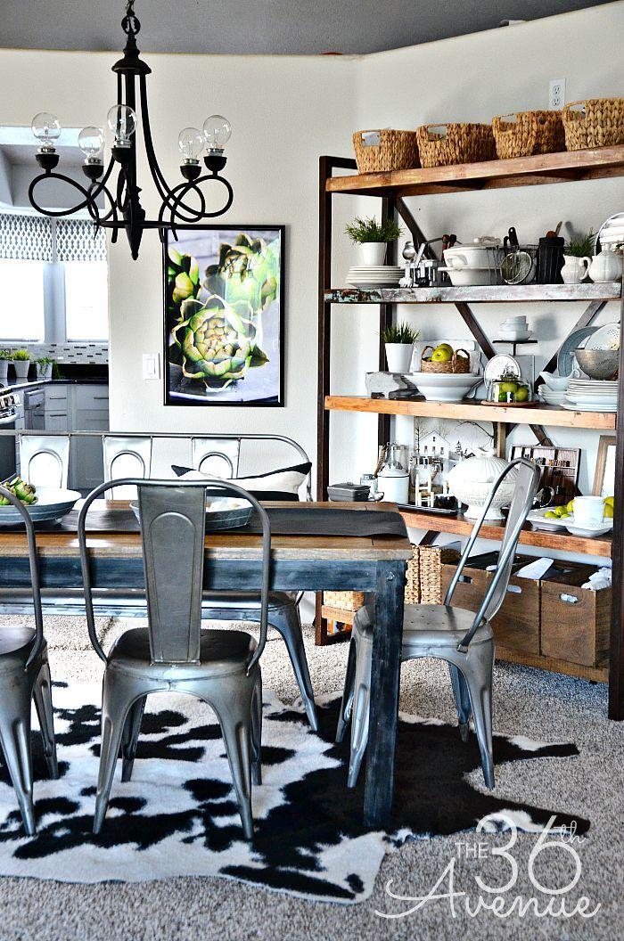 Farmhouse Home Decor Ideas Dining Room Industrial Industrial