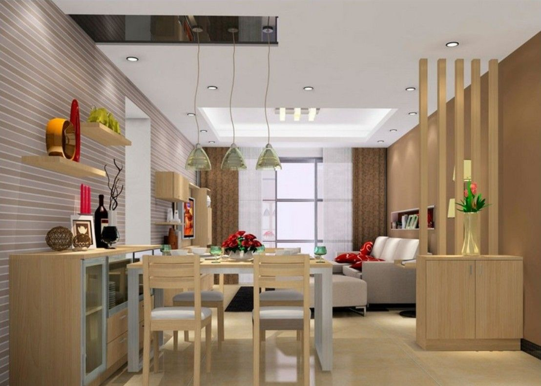 Room Glass Partition Designs Between Living Dining