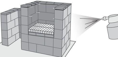 H galo usted mismo c mo hacer una parrilla con bloques - Como construir una parrilla ...