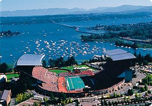 My most favorite place in the fall. Is this gorgeous place! (UW Husky Stadium)