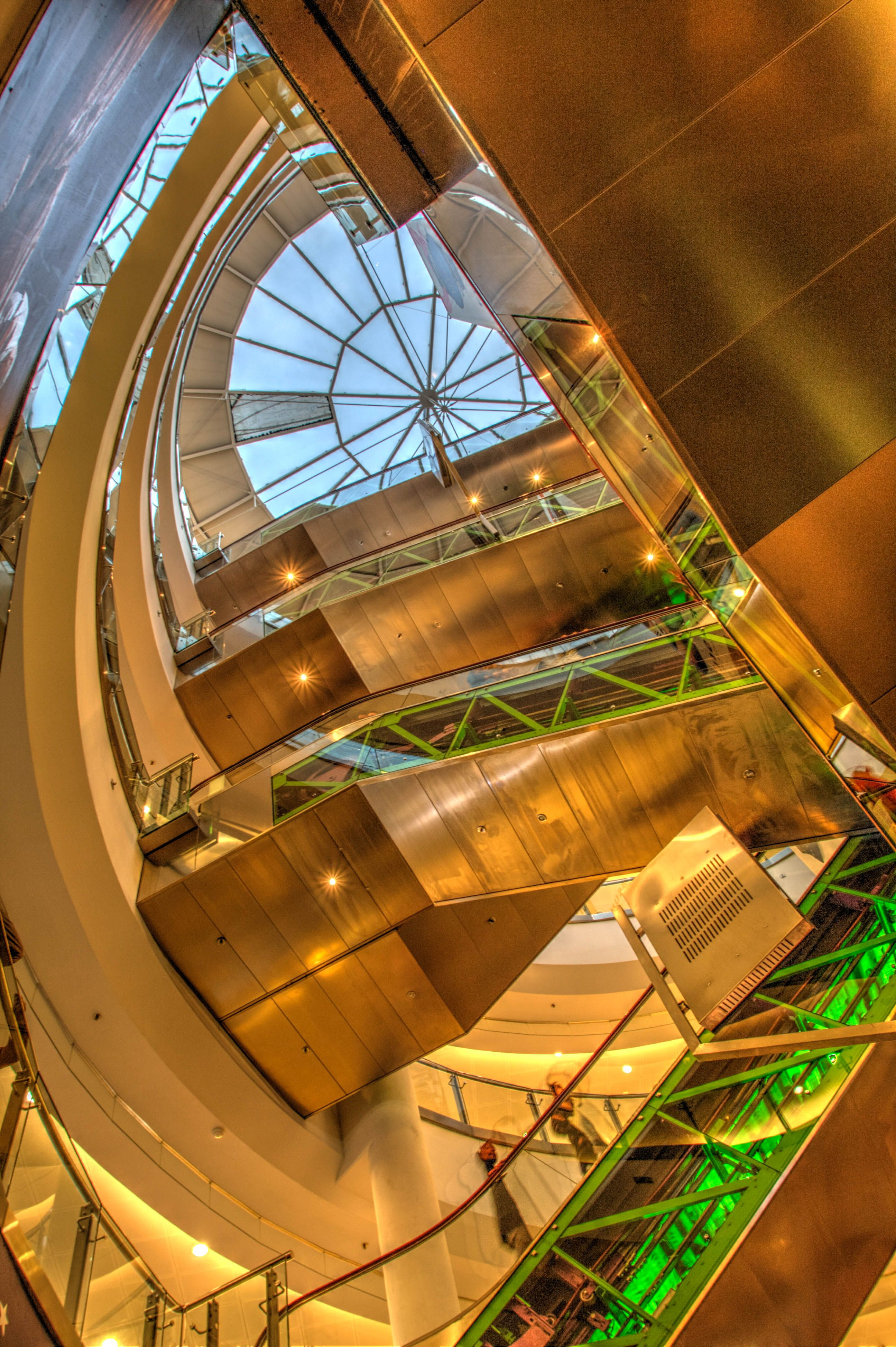 #Złote #Tarasy (Golden Terraces) is a modern #shopping center that sits like a jewel in the center of downtown #Warsaw, #Poland.